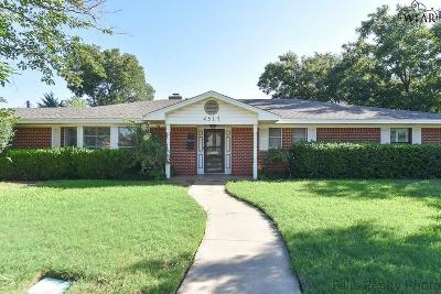 Wichita Falls TX Single Family Home For Sale: $164,000