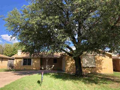 Wichita Falls TX Single Family Home Active W/Option Contract: $99,900