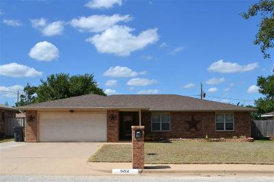 Wichita Falls TX Single Family Home Active W/Option Contract: $157,000