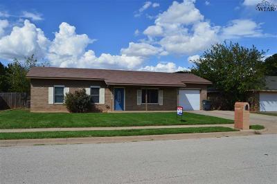 Wichita Falls TX Single Family Home For Sale: $103,000
