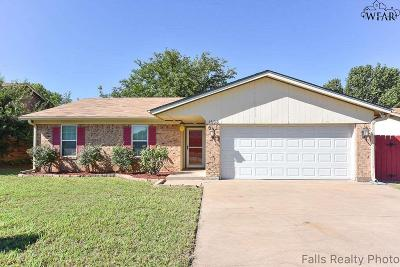 Wichita Falls Single Family Home Active W/Option Contract: 1608 Adrian Avenue