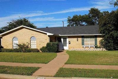 Wichita Falls Single Family Home For Sale: 4623 El Capitan Drive