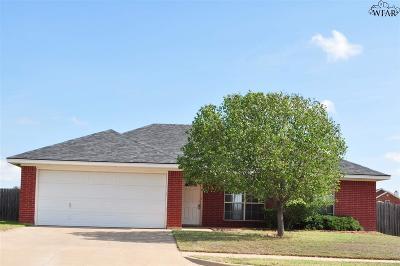 Wichita Falls Single Family Home Active W/Option Contract: 5431 Carlson Street