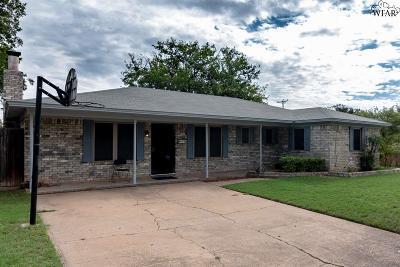 Wichita Falls Single Family Home For Sale: 4725 Cypress Avenue