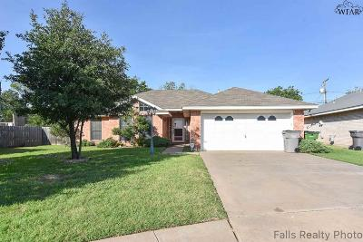 Wichita Falls Single Family Home Active W/Option Contract: 1219 Wendy Ridge