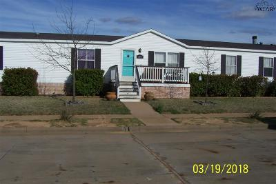 Wichita Falls Single Family Home Active W/Option Contract: 5315 April Street