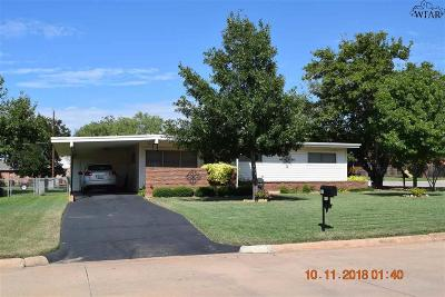 Iowa Park Single Family Home Active W/Option Contract: 600 W Texas Street
