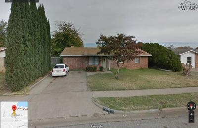 Wichita Falls Single Family Home Active W/Option Contract: 4702 Karla Street