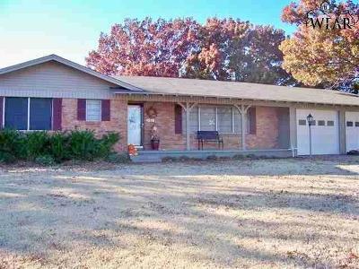 Iowa Park Single Family Home Active W/Option Contract: 1516 Rita Lane