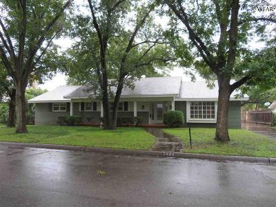 Wichita Falls Single Family Home Active W/Option Contract: 2404 Lou Lane