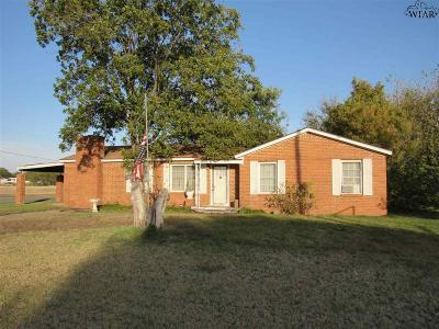 Iowa Park Single Family Home For Sale: 1213 S Fm 368