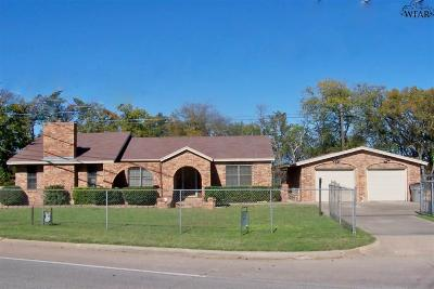 Wichita Falls Single Family Home Active W/Option Contract: 1501 Hampton Road