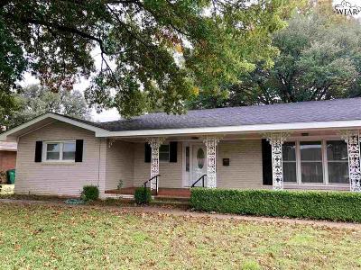 Burkburnett Single Family Home Active W/Option Contract: 710 Sunset Street