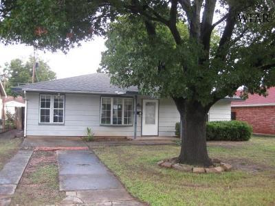 Wichita Falls Single Family Home For Sale: 2956 Moffett Avenue