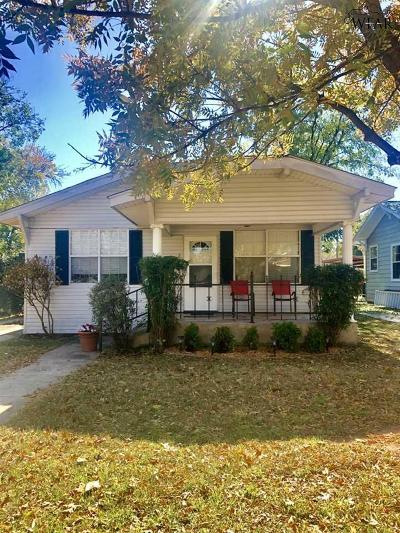 Wichita Falls Single Family Home Active W/Option Contract: 2005 Pearl Avenue