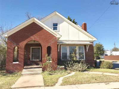 Wichita Falls Single Family Home For Sale: 2100 Tilden Street