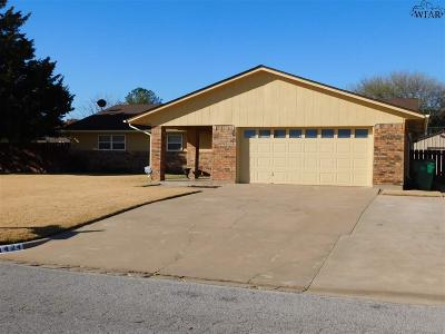 Burkburnett Single Family Home Active-Contingency: 1424 Sioux Lane