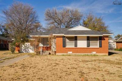 Wichita Falls Single Family Home For Sale: 4108 Hughes Drive