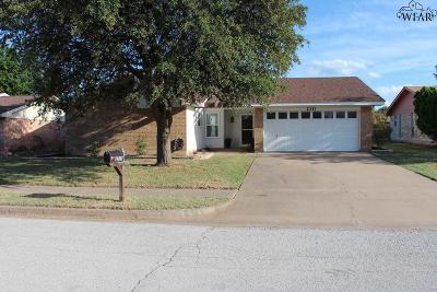 Wichita Falls Single Family Home Active W/Option Contract: 2311 Randolph Drive