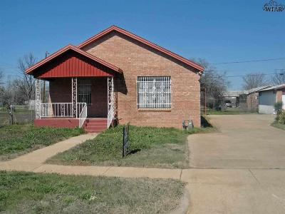 Wichita Falls Single Family Home For Sale: 804 Tulsa Street