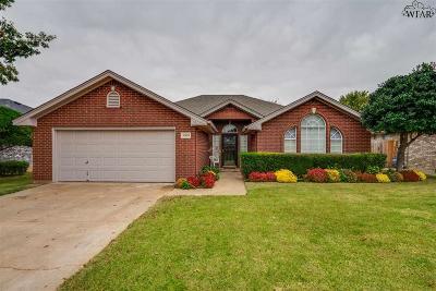 Wichita Falls Single Family Home For Sale: 5309 Blue Stem Drive