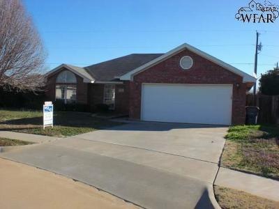 Wichita Falls Single Family Home For Sale: 2 Blue Star Court