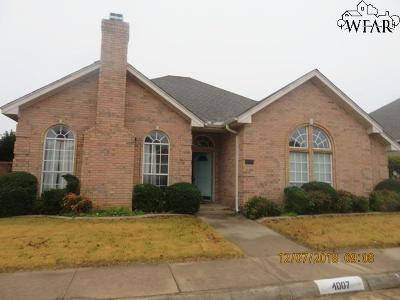 Wichita Falls Single Family Home For Sale: 4007 Kingsbury Drive