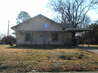 Burkburnett Single Family Home For Sale: 412 E 5th Street