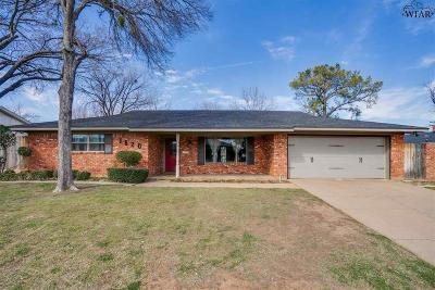 Wichita Falls Single Family Home For Sale: 1620 Celia Drive