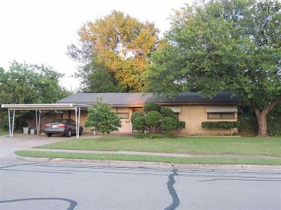 Wichita Falls Single Family Home Active W/Option Contract: 4203 Boren Avenue