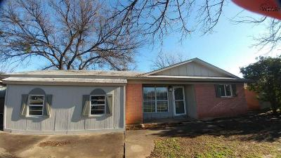 Iowa Park Single Family Home Active W/Option Contract: 1016 West Highway