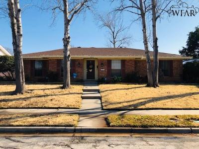 Wichita Falls TX Single Family Home Active W/Option Contract: $174,900