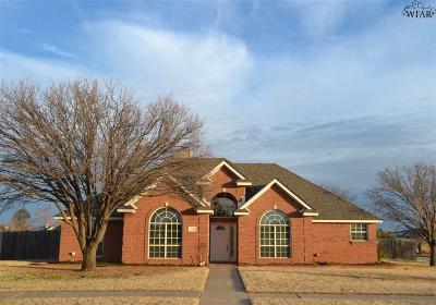 Wichita Falls TX Single Family Home Active W/Option Contract: $229,000