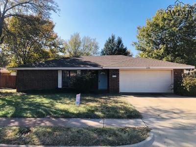 Wichita Falls TX Single Family Home Active W/Option Contract: $167,000