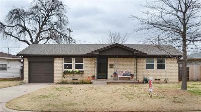 Wichita Falls TX Single Family Home Active W/Option Contract: $107,000