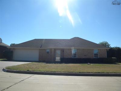 Burkburnett Single Family Home For Sale: 508 Horseshoe Lane