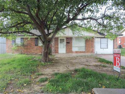 Wichita Falls TX Single Family Home Active W/Option Contract: $59,900