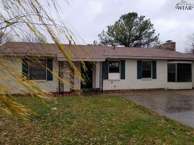 Wichita Falls TX Single Family Home For Sale: $51,500