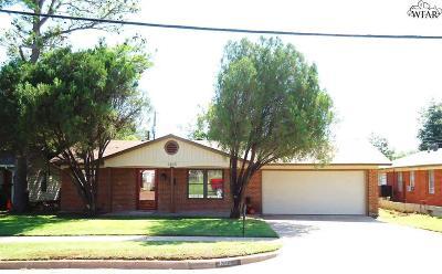 Wichita Falls TX Single Family Home For Sale: $116,900
