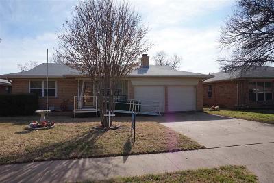 Wichita Falls TX Single Family Home For Sale: $98,000