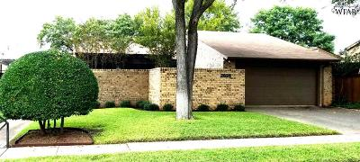 Wichita Falls Single Family Home For Sale: 2826 Mill Valley Drive