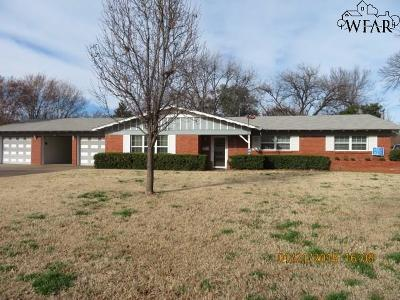 Wichita Falls Single Family Home For Sale: 4514 Wynnwood Drive