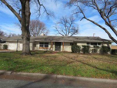 Wichita Falls Single Family Home Active W/Option Contract: 2402 Lou Lane