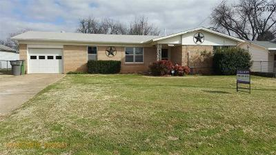 Wichita Falls Single Family Home For Sale: 1021 Harris Lane