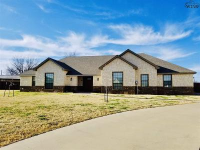 Iowa Park Single Family Home Active W/Option Contract: 20 Harley Court