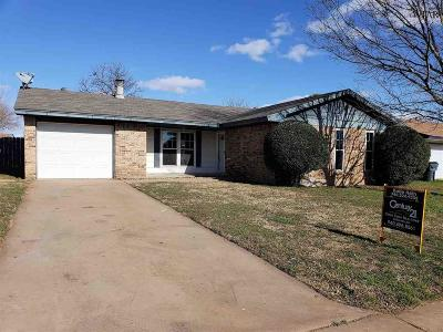 Wichita Falls Single Family Home Active W/Option Contract: 4545 Sabota Avenue