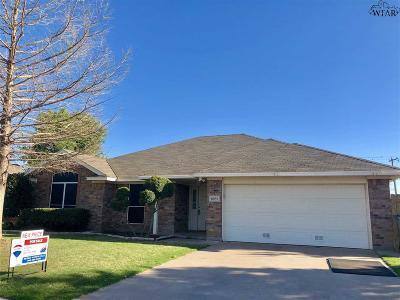 Wichita Falls TX Single Family Home For Sale: $184,900