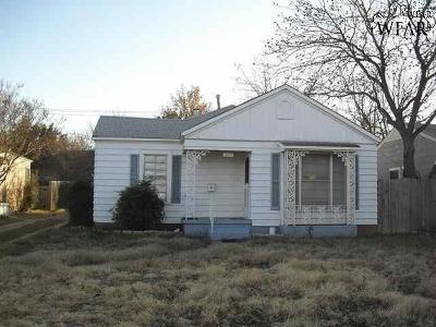 Wichita Falls TX Single Family Home For Sale: $45,000