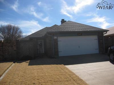 Wichita Falls Single Family Home Active W/Option Contract: 1519 Cynthia Lane
