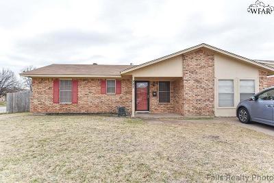 Wichita Falls TX Single Family Home Active W/Option Contract: $89,500